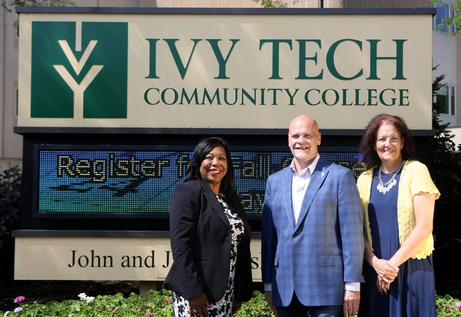 Three executives from Ivy Tech Community College Muncie-Henry County are leading the 2020 United Way campaign for Delaware, Henry and Randolph counties:  (from left) Alisa Wells, Ivy Tech's director of community engagement and wraparound support; Chancellor Jeffrey Scott, and Jeannie Hamblin-Fox, site director ,Henry County Campus.