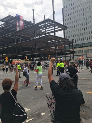 Rochester protest on Sunday, July 19, 2020. Images from the scene.