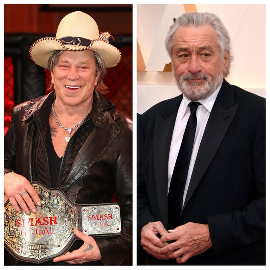 """Mickey Rourke has called out Robert De Niro on Instagram, his co-star in 1987's """"Angel Heart."""""""