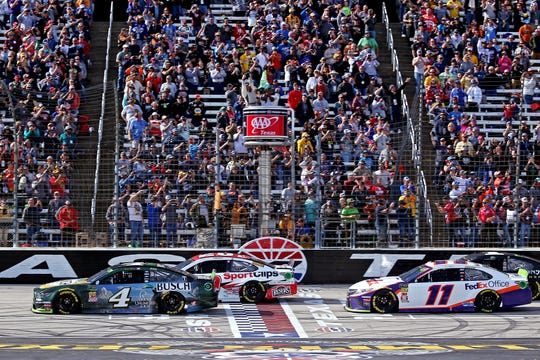 Kevin Harvick (4) won the most recent Cup race at Texas Motor Speedway -- the playoff race on Nov. 3, 2019.
