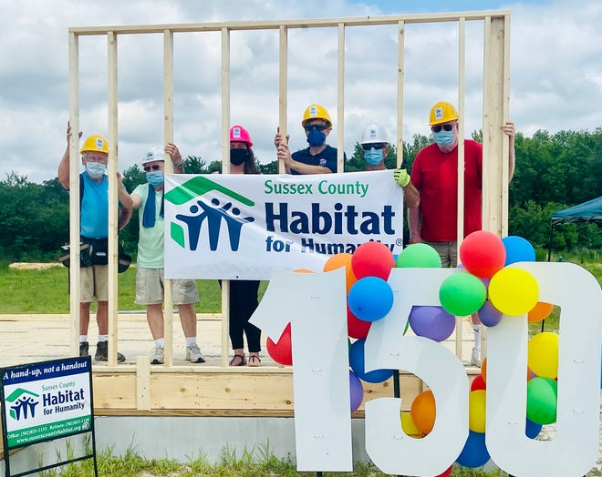 Sussex County Habitat for Humanity is building their 150th home.