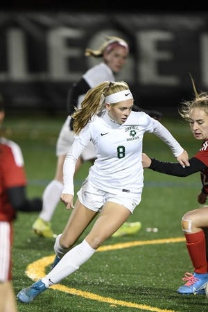 Cornwall senior striker Brooke Zimmer has attracted interest from Division I Manhattan College since her freshman year. Zimmer recently gave her verbal commitment to the Metro Atlantic Athletic Conference school. SCOTT CAVALARI/FOR THE RECORD