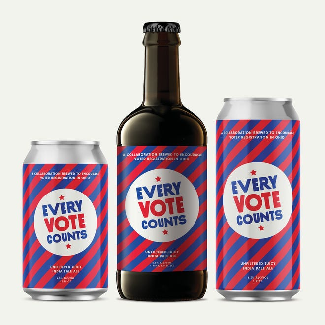 The Every Vote Counts beer.