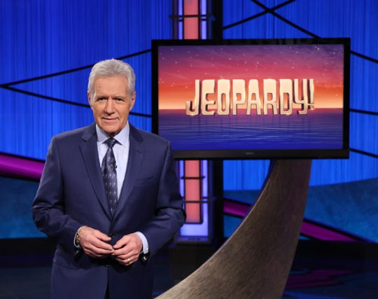 """This image released by Jeopardy! shows Alex Trebek, host of the game show """"Jeopardy!"""" Trebek's memoir, """"The Answer Is: Reflections on My Life,"""" will be released on Tuesday"""