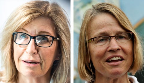 Democrat Rita Hart, left, and Republican Mariannette Miller-Meeks.