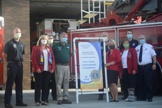 The Mansfield Lions Club donated $3,000 to the Mansfield Fire Department to buy personal protective equipment amid the coronavirus pandemic.