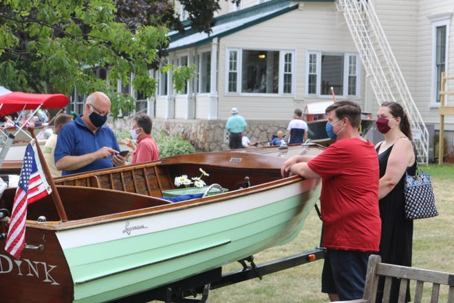 The vast majority of visitors and participants at the Lakeside Wooden Boat Show and Plein Air Art Festival followed the social distancing and other safety protocols put in place by organizers to prevent potential spread of COVID-19.