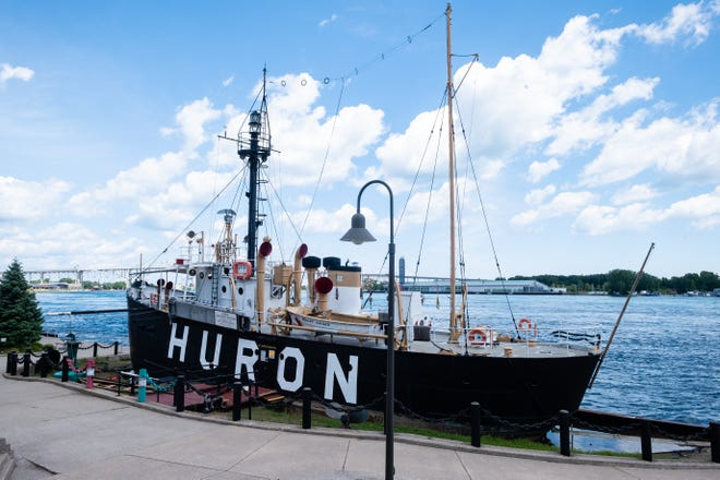 The Huron Lightship Museum is closed after Sunday's thunderstorms shifted its waterfront foundation, causing a gas line to rupture and leak.