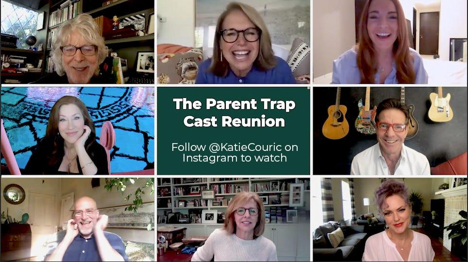 Lindsay Lohan Reunites With Parent Trap Cast Over Video Chat