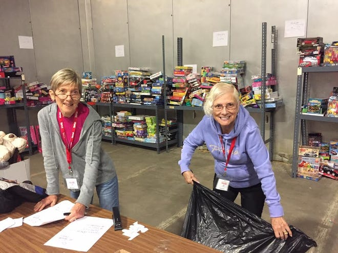 Toys for Tots Sussex volunteers at the warehouse in 2019.