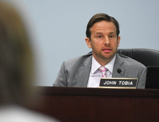 Commissioner John Tobia. The July 21 meeting of the Brevard County Board of County Commissioners at the Viera Government Complex.