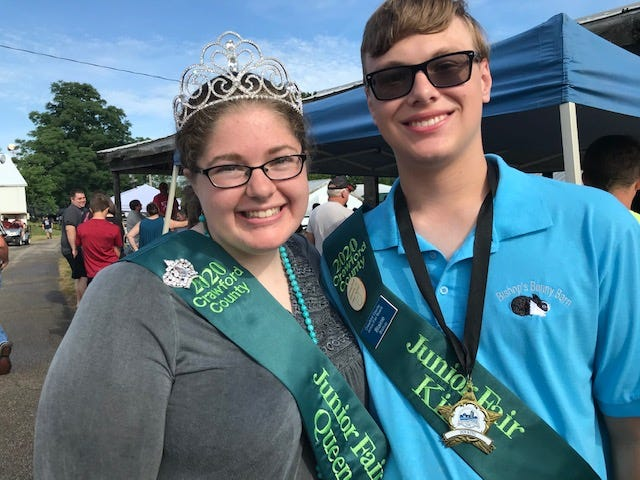 Jodie Jennings and Blaine Bishop  have been crowned Queen and King of the Crawford County Junior Fair.