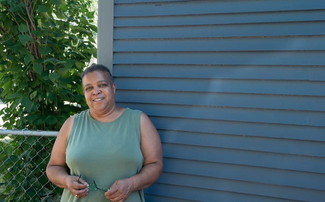 Wanda Hines, director of Joint Urban Ministry Project (JUMP) in Burlington, stands outside her home in the Old North End on July 21, 2020.