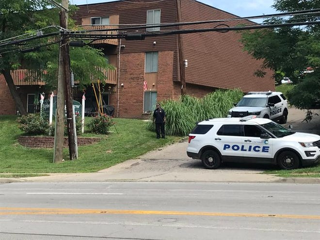 Cincinnati police are on the scene of a shooting at the Ridgeview Apartments on Beechmont Avenue.