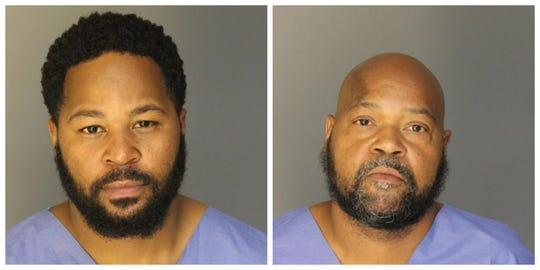 Police say Timothy Paul Bennett, 34, of Inkster and Stephen Jerome Pruitt, 46, of Detroit are charged in a recent fatal shooting in Dearborn. (Dearborn Police Department)