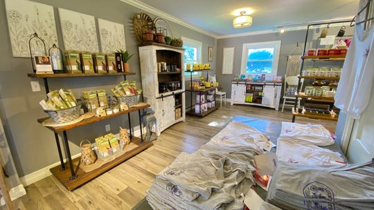 Lovey's Lavender Market at Blake Farms in Armada offers a range of lavender-infused foods, home decor, kitchen and bath products.