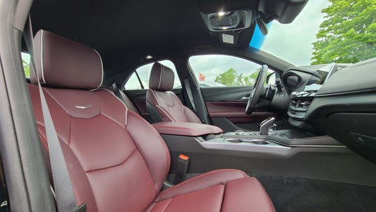 The seats of the 2020 Cadillac CT4-V are a nice place to spend time.