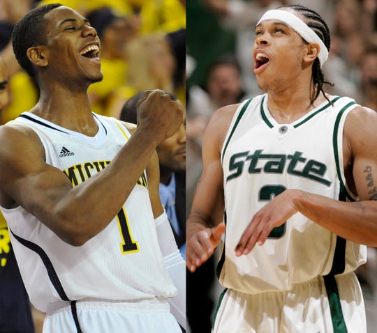 Glenn Robinson III, left, and Shannon Brown are the highest-ranked recruits for Michigan and Michigan State, respectively, in the 247Sports ranking era.