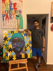 Detroiter Denzel Palm is a self-taught artist, hosting his first show in Eastern Market Wed.-Sat.