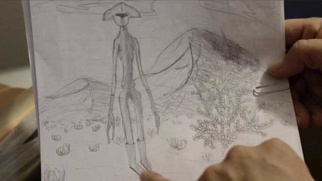 """Uno de los dibujos de la infancia de Carl en una escena de """"Skyman""""."""