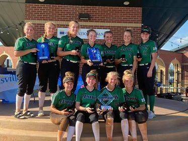 The Indiana Fusion Elite Premier 04 Marx won the championship of the 18U USSSA Great Lakes Nationals over the weekend at the Deaconess Sports Park in Evansville. Henderson County players Madi Stone, Haleigh Beck and Julianna Hibbs are members of the team.