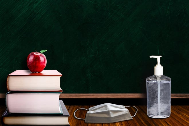 Illustration Image: Back to school during Covid-19 pandemic.
