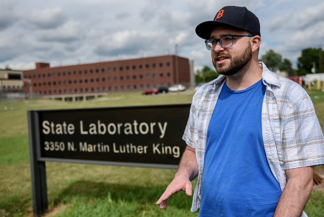 Robert Frisk, a DHHS lab scientist, photographed outside the state laboratory on Monday, July 20, 2020, in Lansing, feels targeted by a civil service decision that makes it harder to pay union dues.