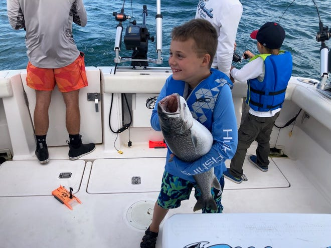Grayson Wolf of Erin has been fishing with his dad, Garrett Wolf, since he was about 2 years old.