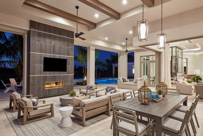 Stock Custom Homes recently completed construction on its Newport model, located in the 2019 Community of the Year, Quail West.