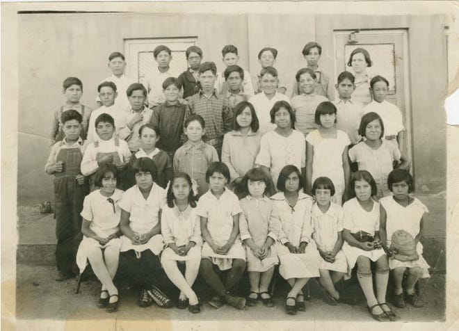 """On July 29th at 11 a.m., the Silver City Museum is offering a free webinar by historian Dr. Stephen Fox titled: """"Jaime Crow in New Mexico: Mexicans and Whites in Grant County since 1870."""" This photo from the Silver City Museum collection is of a segregated 1920 class at the  Lincoln School."""