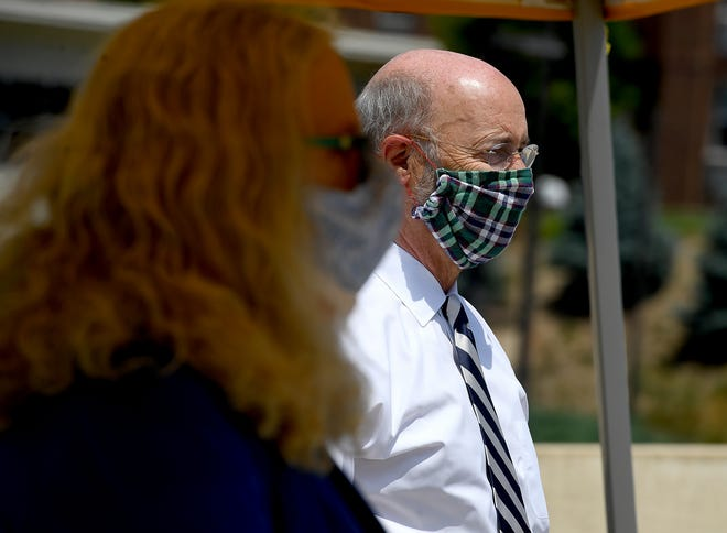 Governor Tom Wolf and Secretary of Health Dr. Rachel Levine visit WellSpan York Hospital to thank health care workers and hospital staff for their essential role in protecting Pennsylvanians during the COVID-19 pandemic, Tuesday, July 22, 2020John A. Pavoncello photo