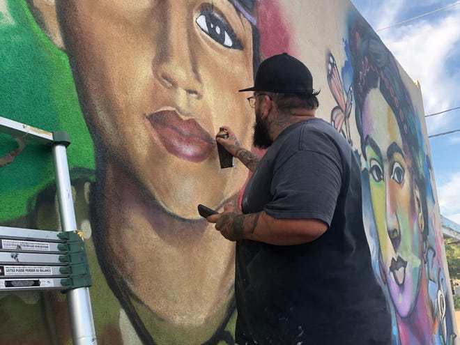 Inx Davila painted a mural of fallen soldier Vanessa Guillen in downtown San Angelo in hopes people remember her story.