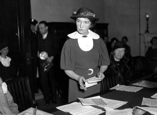 Margaret Sanger in Washington, D.C., on March 1, 1934.