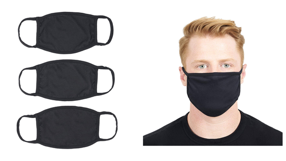 This pack of black masks is American-made.