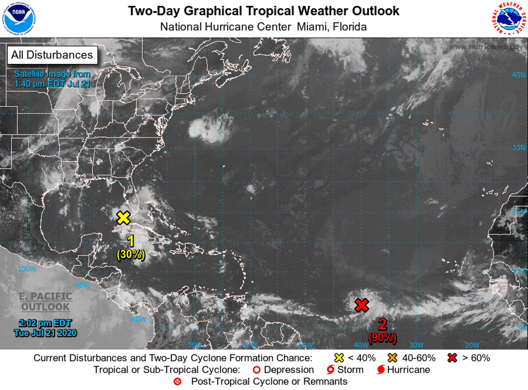 Tropical depression forms in Atlantic Ocean; System in Gulf also bears watching thumbnail