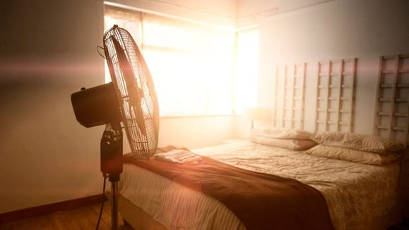 Keeping your bedroom cool at night can give your sleep quality a boost.