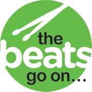 "Logo for ""The Beats Go On,"" a series of events replacing the Arts, Beats & Eats festival in 2020."