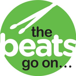 """Logo for """"The Beats Go On,"""" a series of events replacing the Arts, Beats & Eats festival in 2020."""