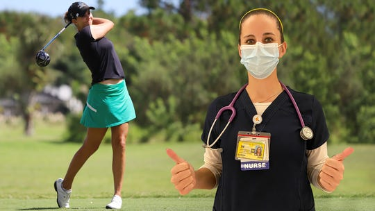 Sarah Hoffman last played a pro golf tournament in March. She then went to work as a nurse at UM Hospital during the early stages of the COVID-19 pandemic.