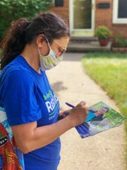 Amid the pandemic, U.S. Rep. Rashida Tlaib, D-Detroit, has resumed in-person campaigning and knocking doors in her bid for a second term.