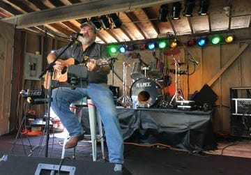 J.D. Owen performs on the Log Cabin Stage at the 2017 Sandusky County Fair. The county fair board has decided to not have entertainment at the Log Cabin Stage during the 2020 Sandusky County Fair.