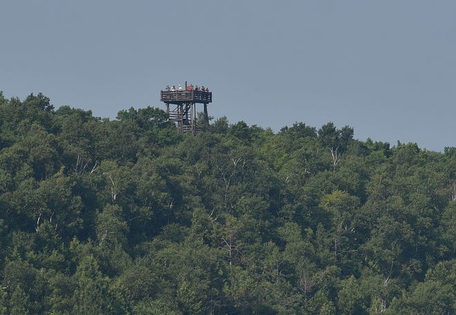 The Potawatomi State Park's 75-foot observation tower in Sturgeon Bay.