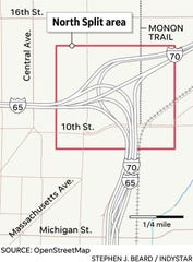 The North Split connects I-70 and I-65 in downtown Indianapolis. Indiana's second-most-traveled intersection, it is due for extensive updates and replacements, INDOT said.