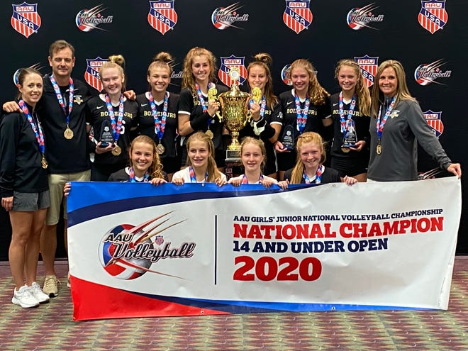 The Boiler Juniors 14 Gold team won the AAU national championship in Orlando, Florida on Wednesday. Team members include: Emily Bell, Lexi Blankenship, Brooklyn Edmonds, Sienna Foster, Bella Humphrey, Riley Resmer, Emma Segal, Allie Shondell, Aesha Vogt and Rachel Vorst. Coaches are John Shondell, Becky Segal and Laura Bell.