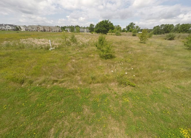 Property west of Oak Grove Road north of the Crossroads Town Center shopping center in Howell, shown Wednesday, July 22, 2020, is under consideration for an apartment complex.