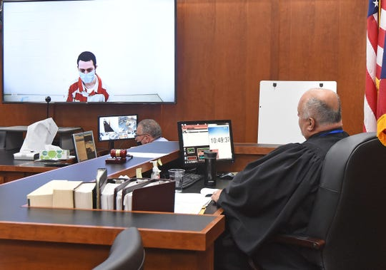James Richards is sentenced on video by Judge Phillip Naumoff Wednesday morning after pleading guilty to child rape charges.