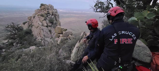 Rescue teams from the Las Cruces Fire Department, Mesilla Valley Search and Rescue and New Mexico State Police aided three hikers who became stranded in the Organ Mountains Monday, July 20, 2020.