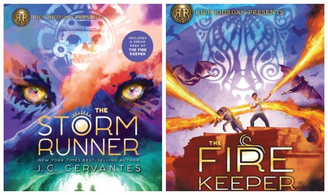 """The Storm Runner"" and ""The Fire Keeper"" are two books from J.C. Cervantes' trilogy, ""The Storm Runner."""