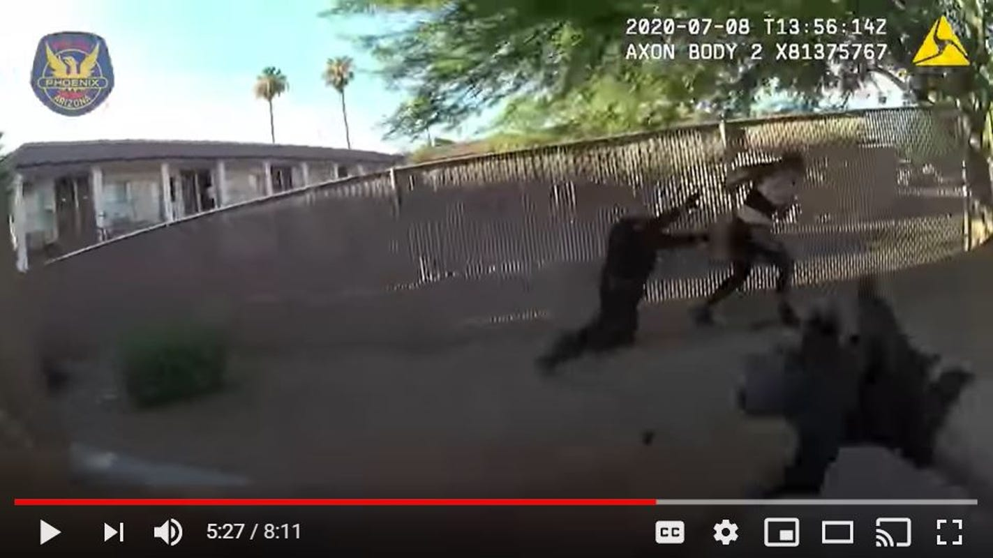 Body-camera footage shows Phoenix police shooting woman who they say fired at officers