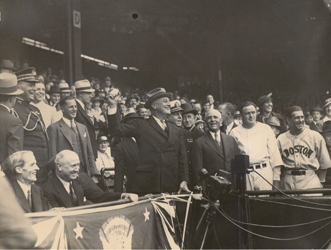 President Franklin Roosevelt insisted on baseball continuing as World War II was escalating.